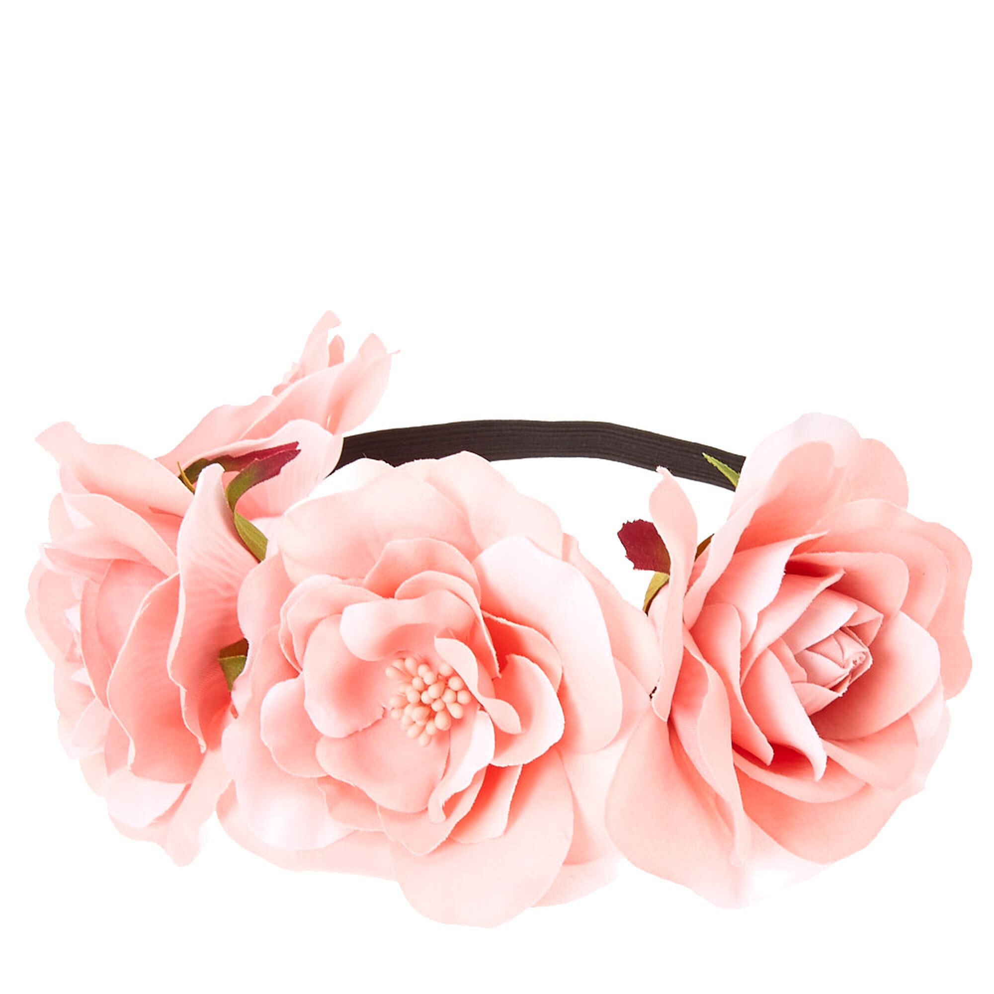 Pink Floral Stretch Flower Crown Icing Us