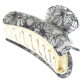 Sunflower Hair Claw - Gray,