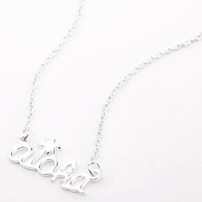 Silver Aloha Pendant Necklace,