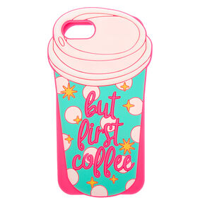 But First Coffee Silicone Phone Case - Fits iPhone 6/7/8,