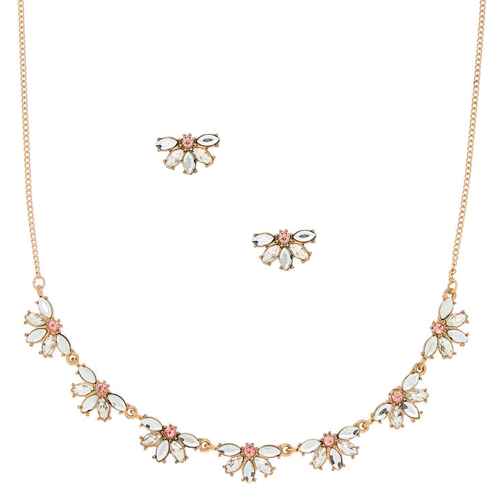 Antique Gold Embellished Jewelry Set - 2 Pack,
