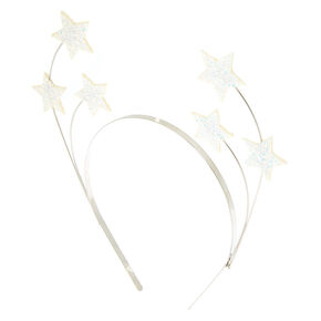 Silver Cosmic Star Headband - White,