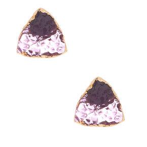 Geode Stud Earrings - Amethyst,