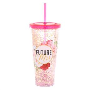 Future Mrs Floral Tumbler - Pink,