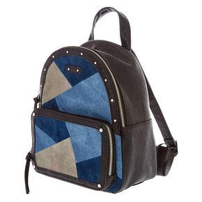 Denim Patchwork Backpack,