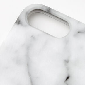 White Marble Protective Phone Case - Fits iPhone 6/7/8+,