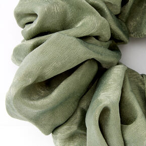 Giant Satin Hair Scrunchie - Sage,