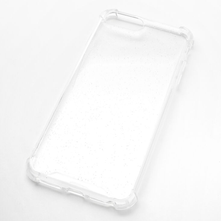 Clear Glitter Protective Phone Case - Fits iPhone 6/7/8 Plus,