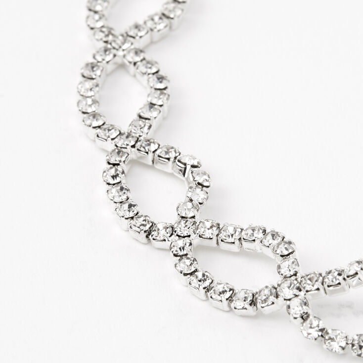 Silver Infinity Choker Necklace, Bracelet, & Earring Set - 3 Pack,