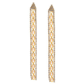 Elegant Gold Chain Drop Earrings,