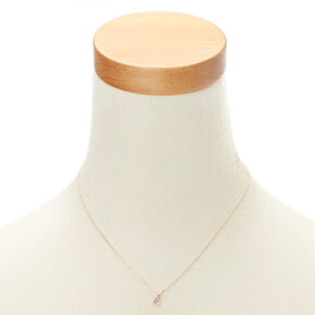 "Rose Gold Studded ""X"" Initial Necklace,"