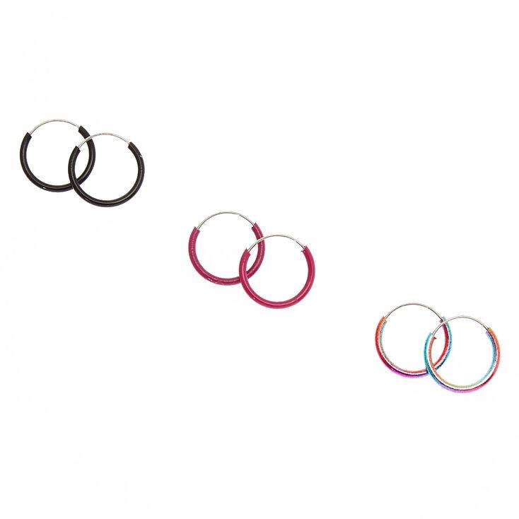 10MM Metallic Mini Hoop Earrings,