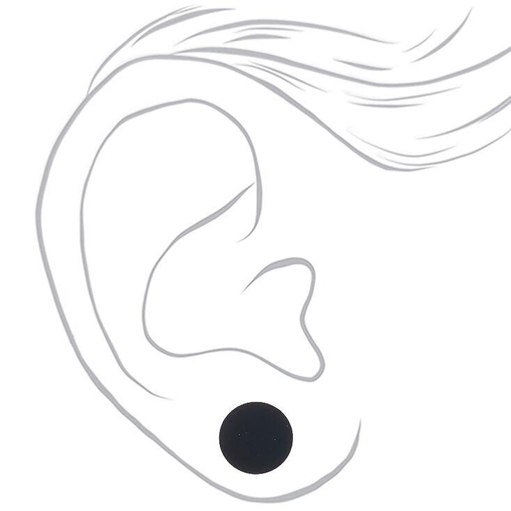 Rubberized Stud Earrings - Wine, 3 Pack,