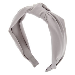 Satin Knotted Headband - Silver,