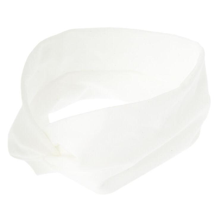 Wide Jersey Headwrap - White,