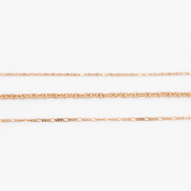 Gold Chain Bracelets - 3 Pack,