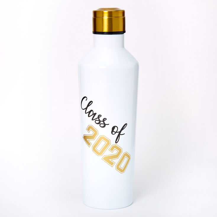 Class of 2020 Metal Water Bottle - White,