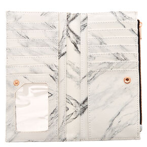 Marble & Rose Gold Slim Clutch Wallet,