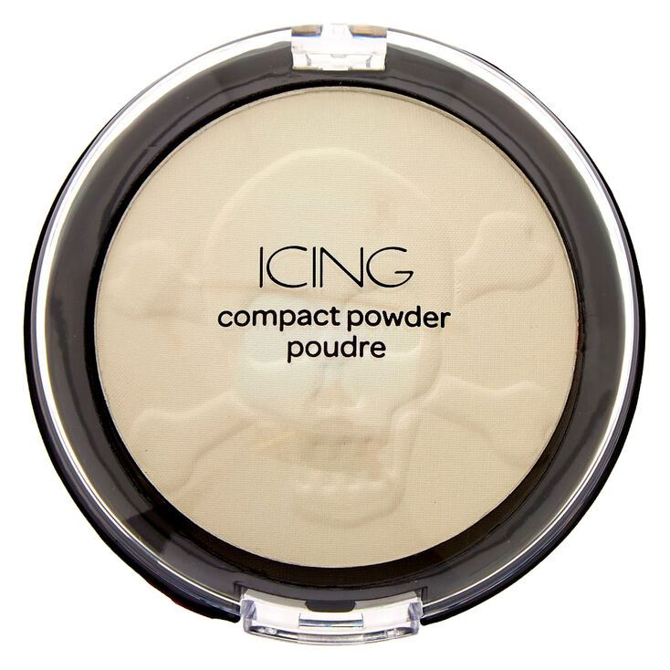 Halloween Goth Compact Powder - White,