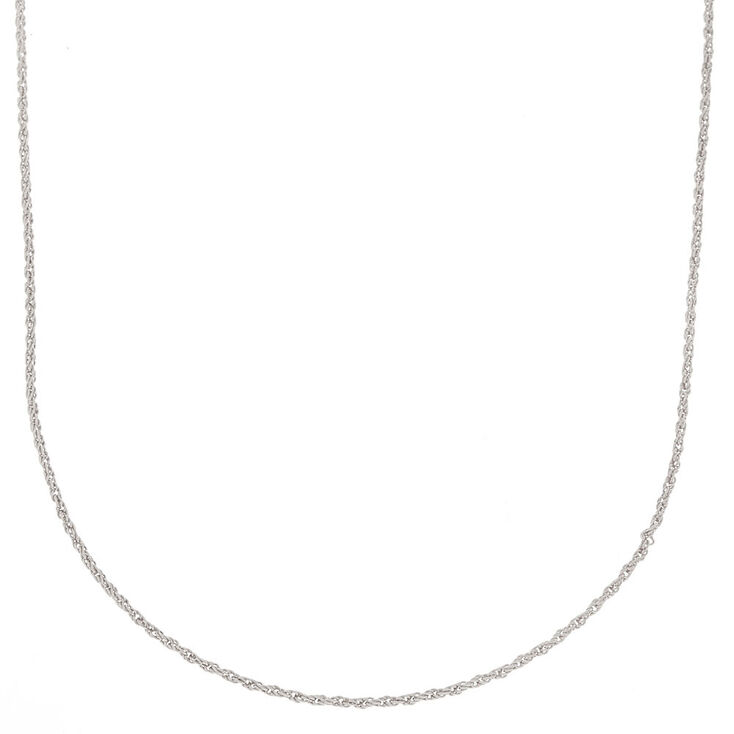 Silver Twisted Rope Chain Necklace,