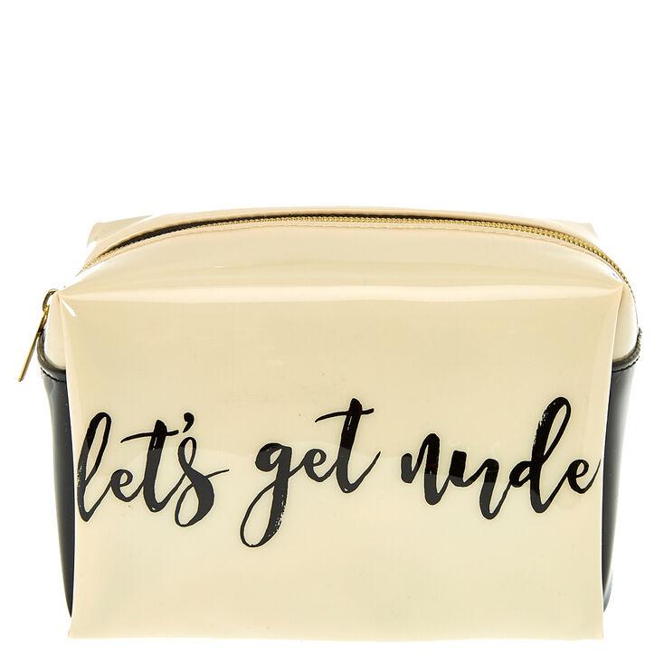 Let's Get Nude Cosmetics Bag,