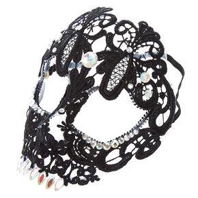 Skeleton Lace Mask - Black,