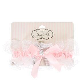 Blush Pink Bachelorette Garter with Flask,