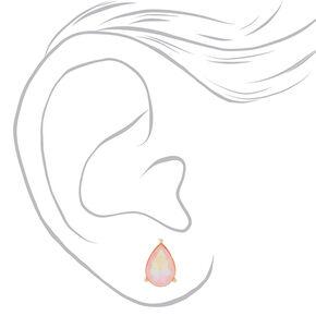 Teardrop Stud Earrings - Peach,