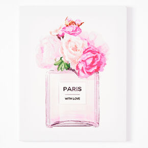 Paris With Love Canvas Wall Art - Pink,