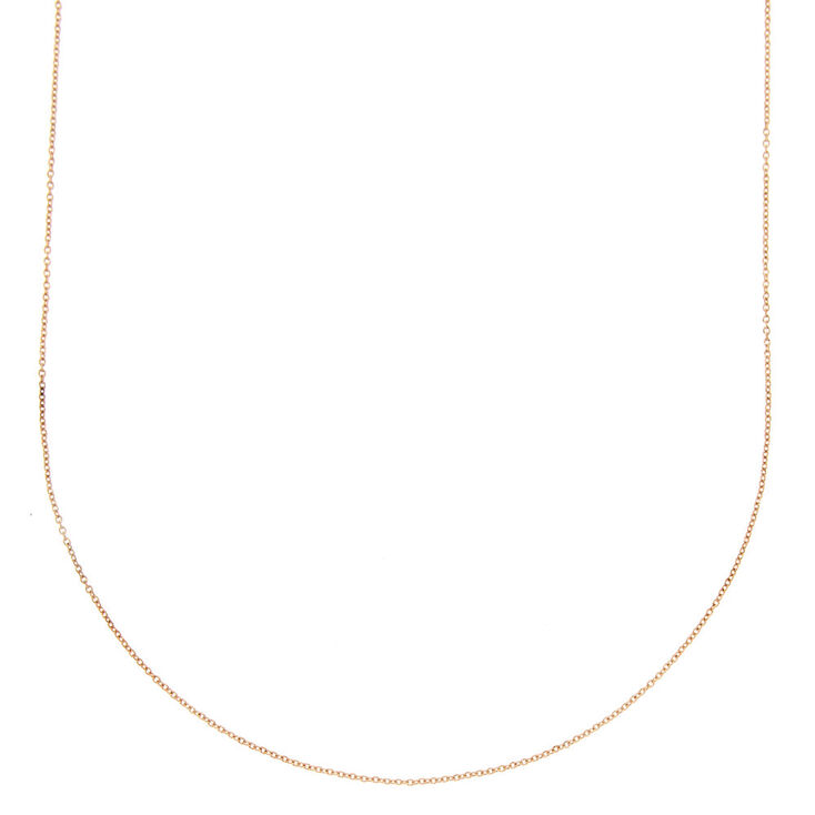 Rose Gold Chain Necklace,