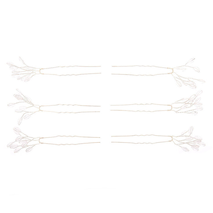 Silver Branch Hair Pins - 6 Pack,