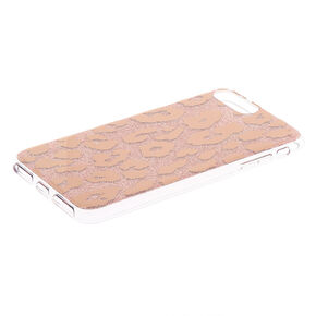 Glitter Leopard Print Phone Case - Rose Gold,