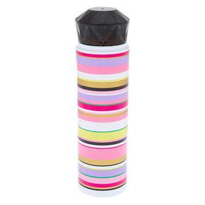 Rainbow Striped Aluminum Water Bottle,