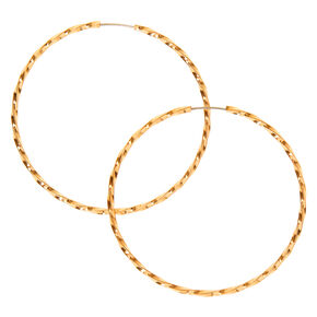 Gold 40MM Twist Hoop Earrings,