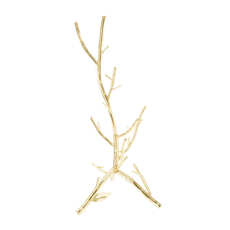 Metallic Gold Branch Jewelry Stand Icing Us
