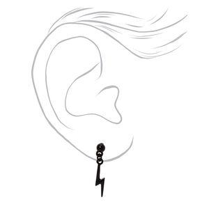 Mixed Metal Dangly Lightning Bolt Stud Earrings - 3 Pack,
