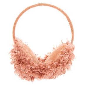 Mongolian Faux Fur Ear Muffs - Pink,