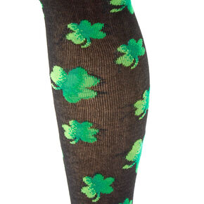Ombre Shamrock Knee High Socks - Black,