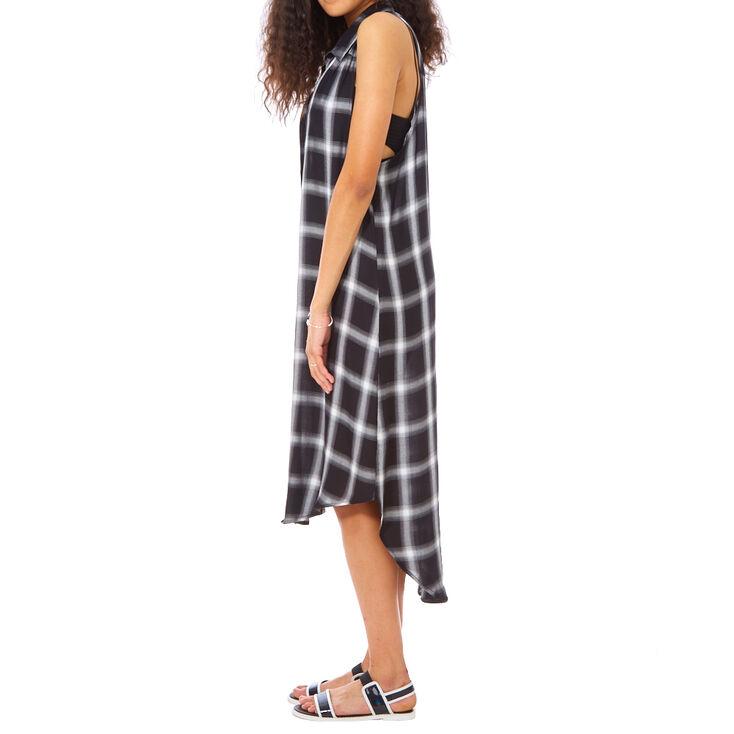 Black Plaid Kimono,