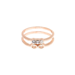 Rose Gold Glitter Midi Ring,