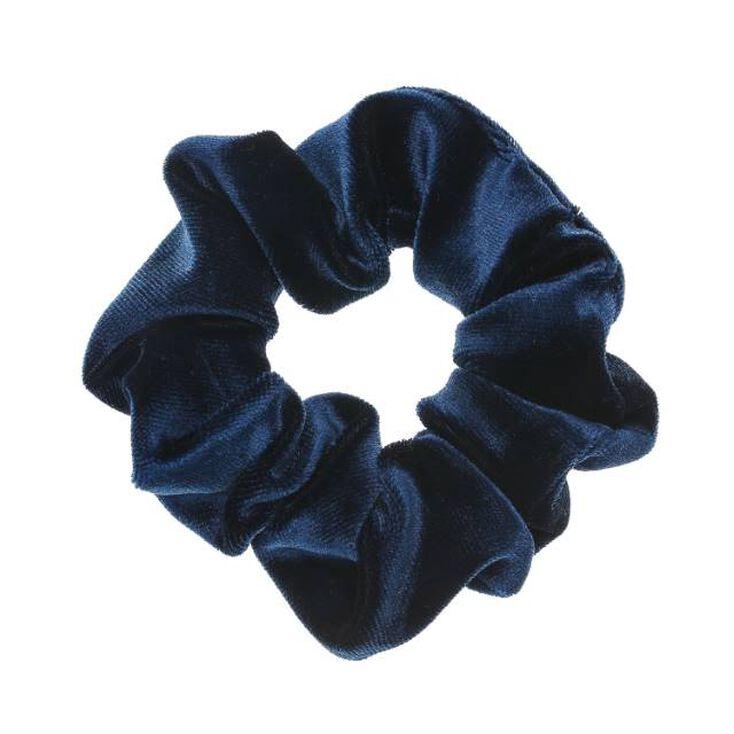 Medium Velvet Hair Scrunchie - Navy,