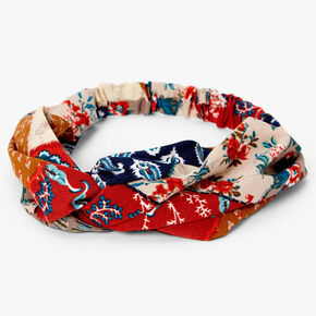 Patchwork Floral Twisted Headwrap,