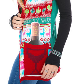 Light Up Llama Christmas Vest,