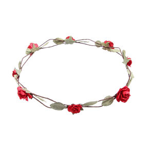 Red Paper Roses Flower Crown,