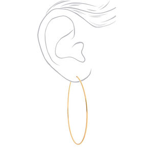 Gold Graduated Hoop Earrings - 3 Pack,