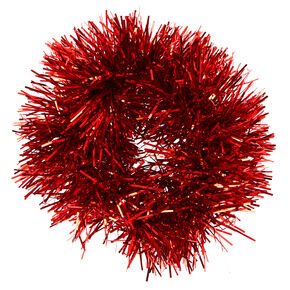 Tinsel Hair Scrunchie - Red,