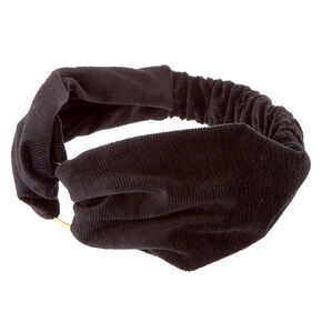 Velvet Ring Headwrap - Black,