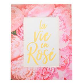 La Vie En Rosé Mini Wall Art,