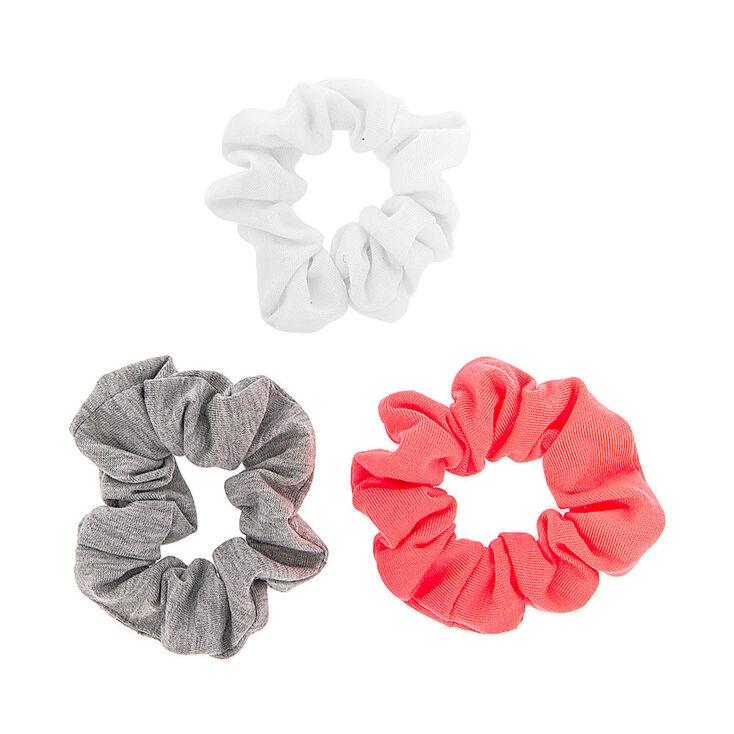 Neon Jersey Hair Scrunchies - 3 Pack,