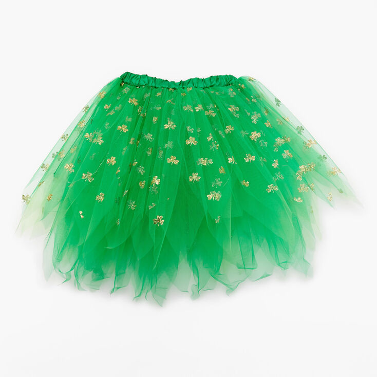 Shamrock Light-Up Tulle Tutu - Green,